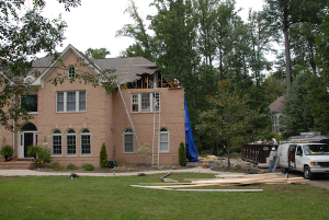 Storm Damage Home Hurricane Irene
