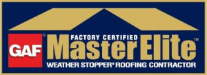 GAF Factory Certified Master Elite Weather Stopper Roofing Contractor Logo