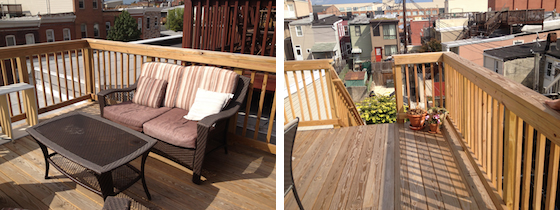 Wood Deck in Baltimore MD by Fichtner Services
