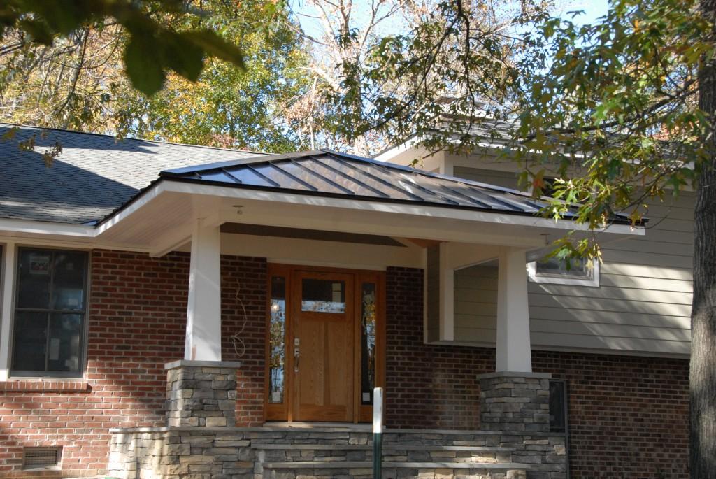 Standing Seam Aluminum Porch Roof Davidsonville Roofing